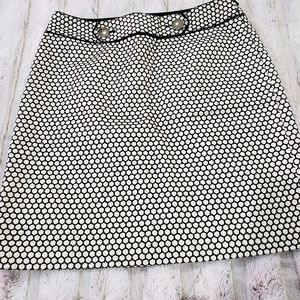 Ann Taylor embroidered a-line skirt